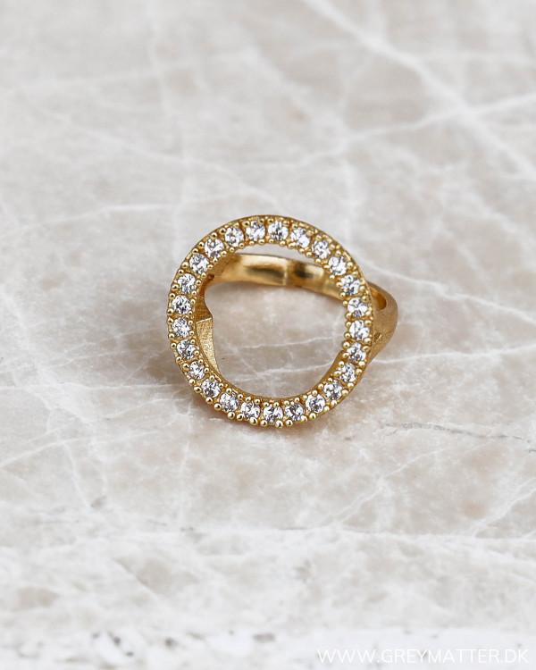 Zirkon ring belagt med guld fra Pure By Nat