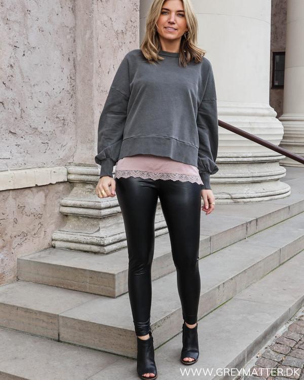 Vimuselia Dark Grey Melange Sweatshirt