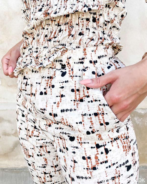 Bukser med print til damer