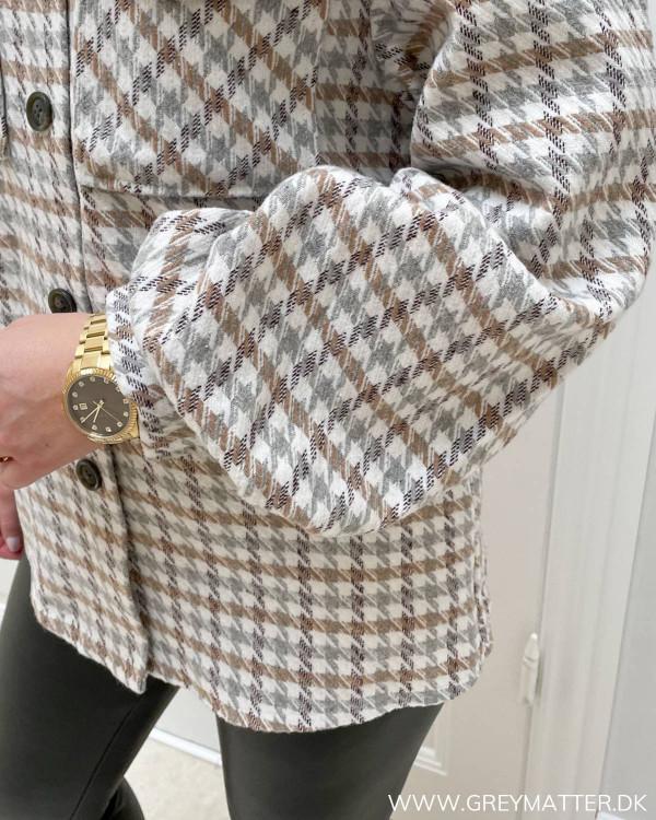 Vila skjorte jakke med tern