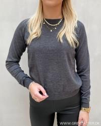 Onlyounger Dark Grey Melange L/S Pullover