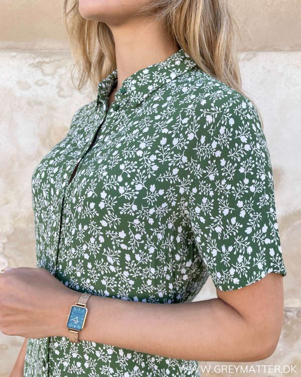Skjorte kjole i smuk grøn farve