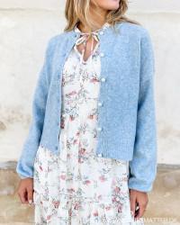 Onlisabella Cashmere Blue Melange Cardigan