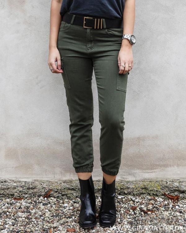 Cargo bukser til damer i army grøn