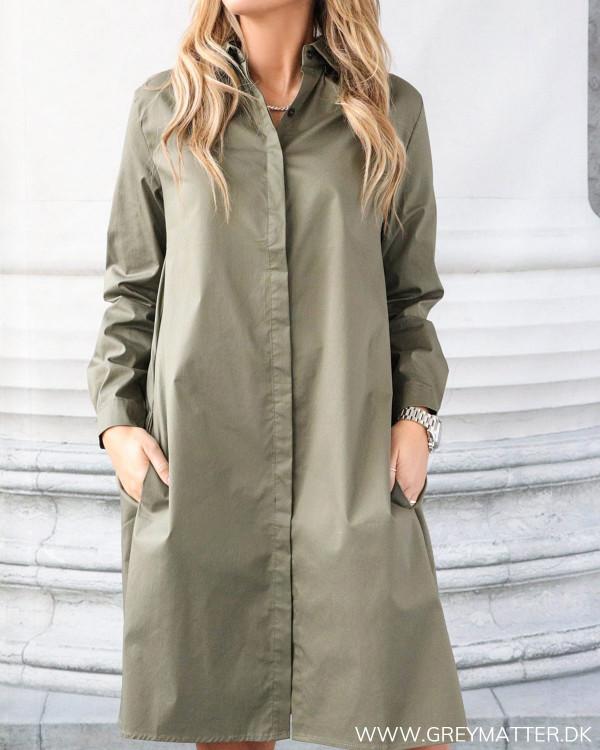 Army Cotton Shirt Dress
