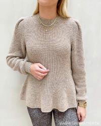 Onlstacy Pumice Stone O-Neck Pullover Knit