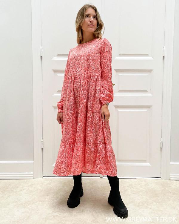 Rød hvid kjole fra Vila og Grey Matter i Limited Edition