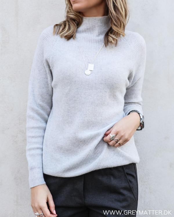 Light Grey High Neck Knit