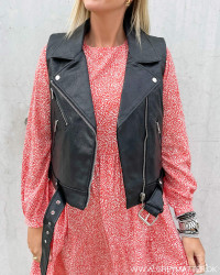 Onlvera Faux Leather Waistcoat