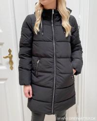 Onldolly Black Long Puffer Coat