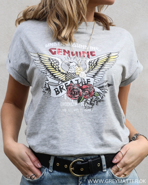 Vila Visaselin Light Grey Melange T-Shirt