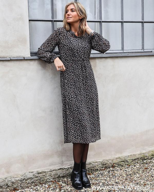 Maxi kjole med lange ærmer fra Vila