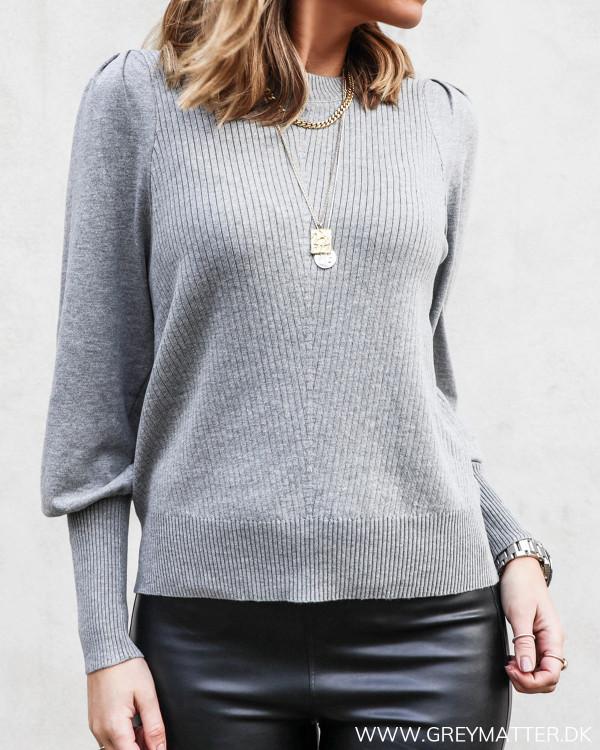 Kelsey Grey Soft Knit Blouse