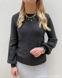 Pcperla Dark Grey Melange LS Knit