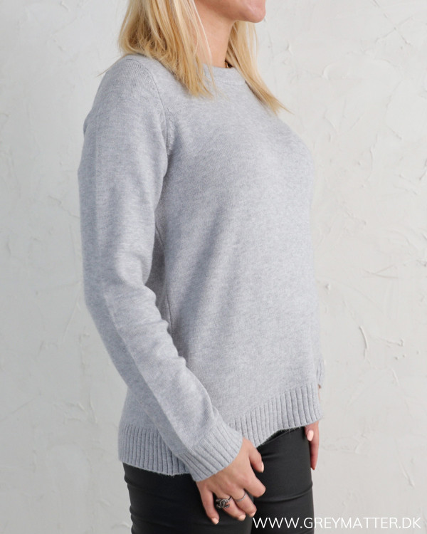 Viril Open Back Light Grey Melange Knit