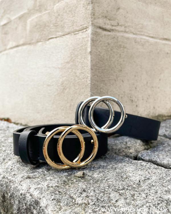 Onlrasmi Black Gold Faux Leather Belt