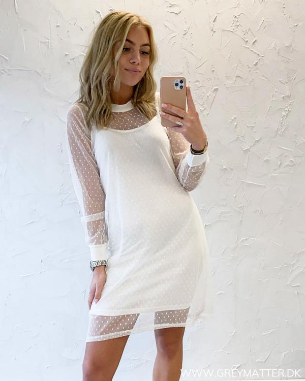 White Dot Mesh Dress