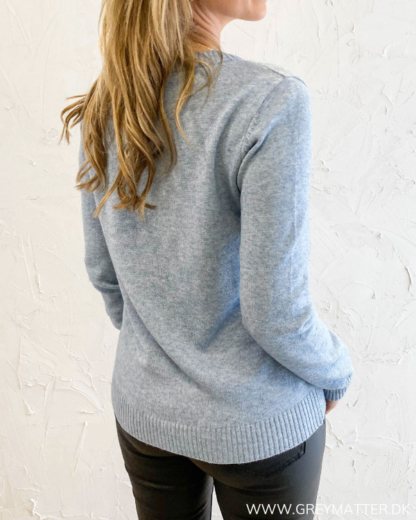 Viril Ashley Blue Melange O-Neck Knit