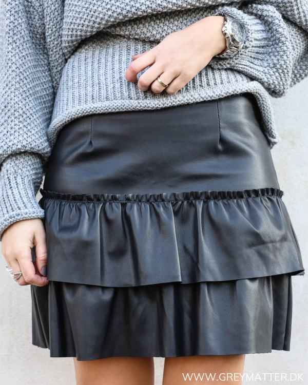 The Black Ruffle Skirt