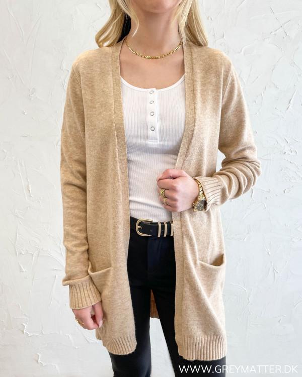 Viril Open Nomad Melange Knit Cardigan