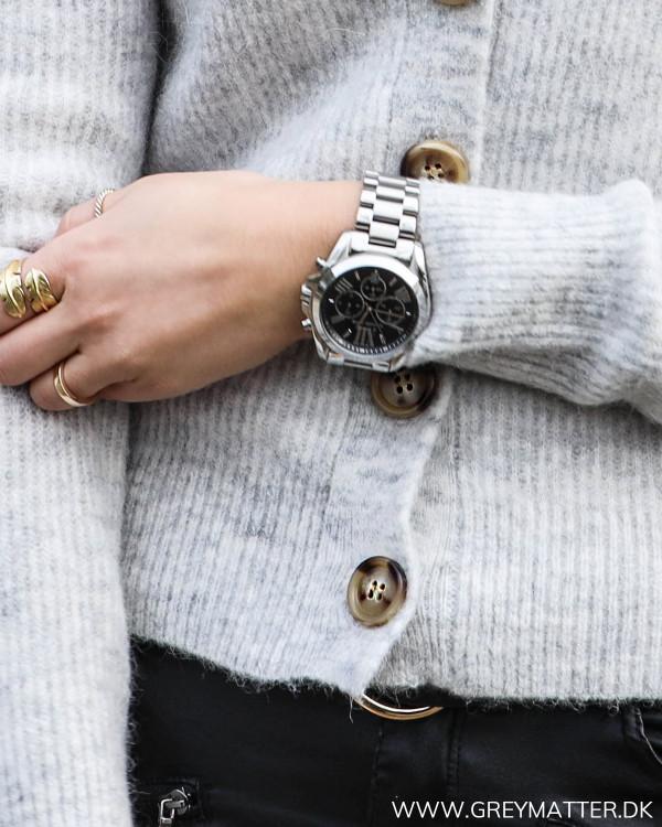 Light Grey Melange Gran Knit Cardigan