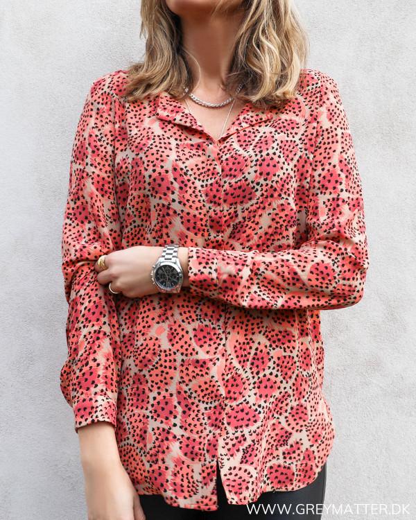 Skjorte fra Vila i rødt print