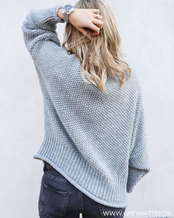 The Cosy Grey Knit Blouse