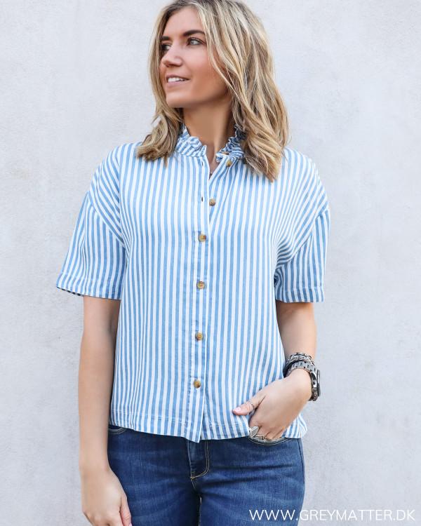 Visuka Light Blue Stripe Blouse