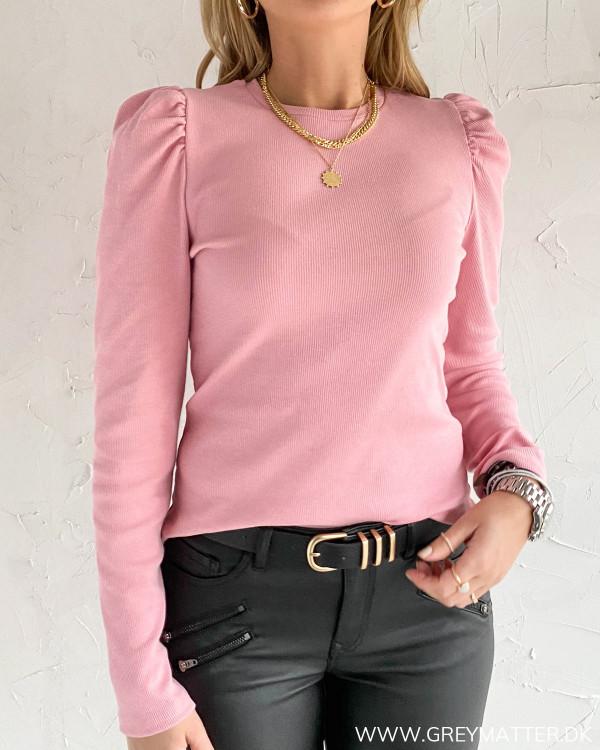 Pcanna zephyr lyserød bluse