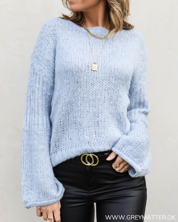 The Light Blue Wide Sleeve Knit