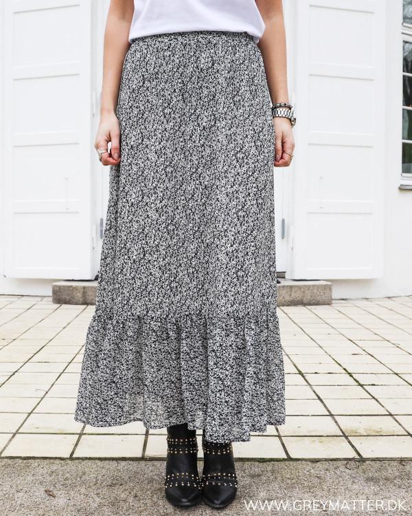 Pieces Pcarlia Black Flower Skirt