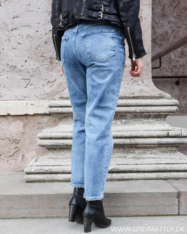 Lækre denim jeans fra Pieces set bagfra