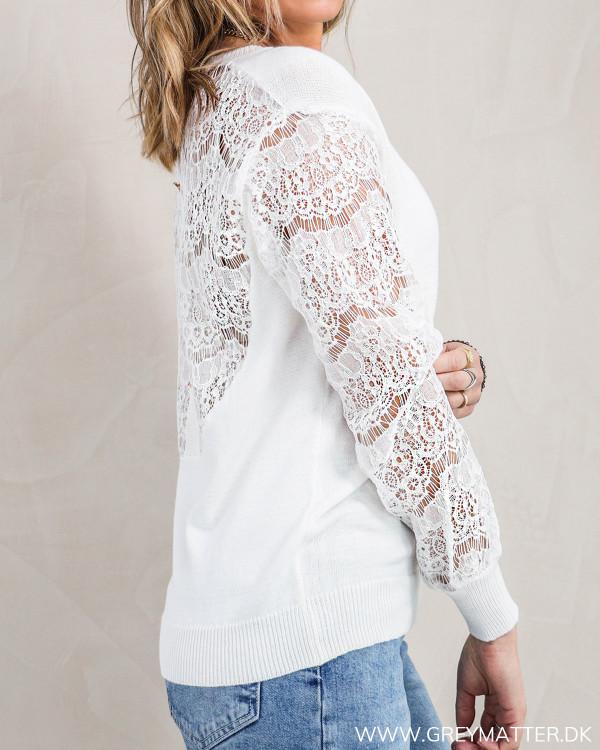 White Lace Back Knit