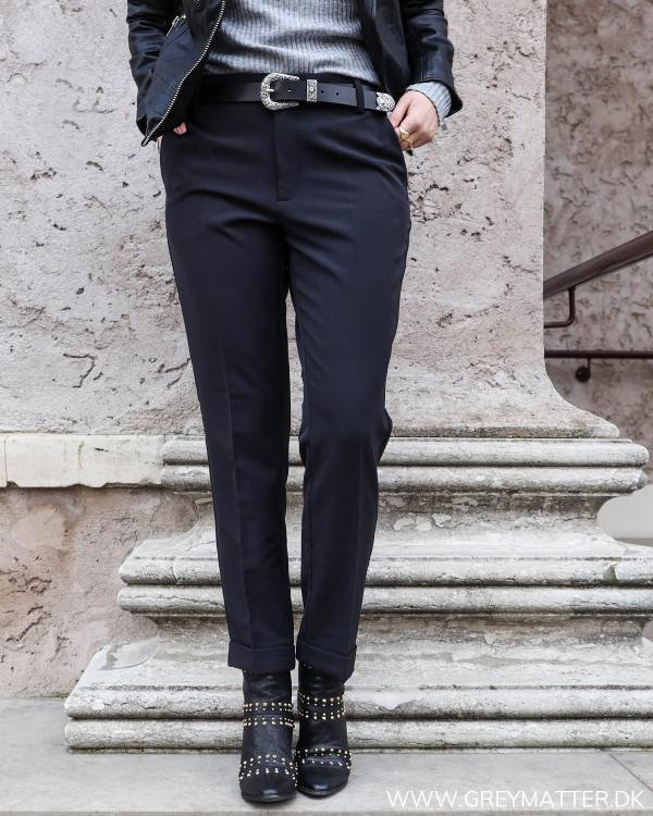 Sort suit pants til damer med god pasform og stretch