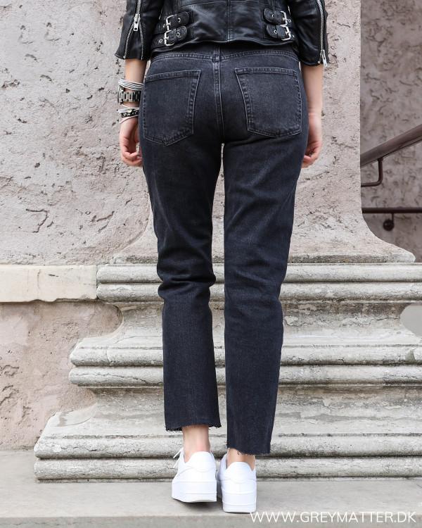 Pieces jeans i washed sort set bagfra