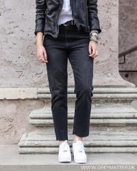 Pcnima Straight Black Mom Jeans