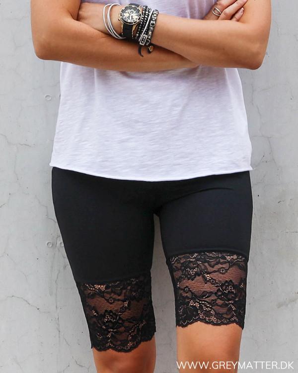 Sorte Cykel Shorts med blonde til damer