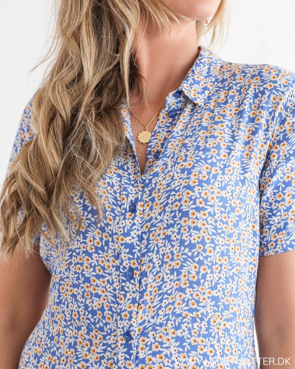Blå skjortekjole fra Pieces