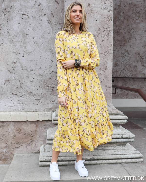 Pcmelinda Yellow Flower Dress