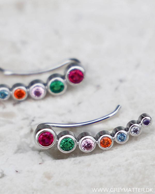 Seven Dot Silver Earring