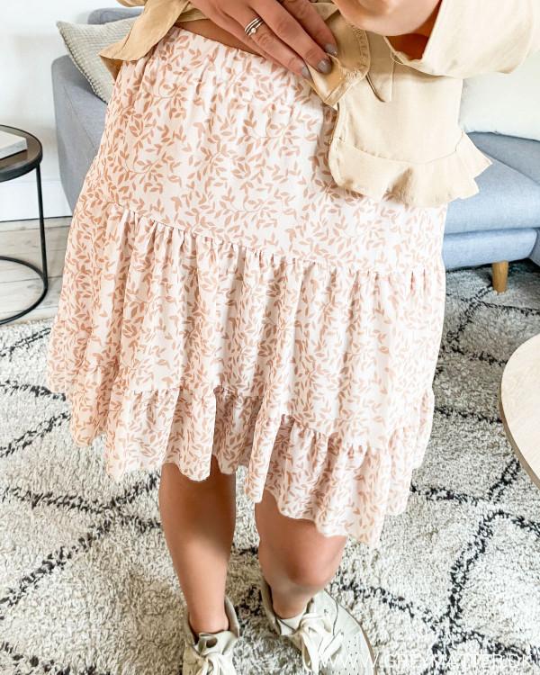 Sand Printed Layer Skirt