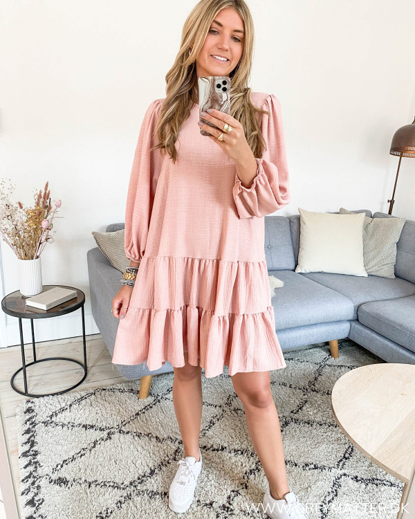 Oversized Rose Melange Layer Dress