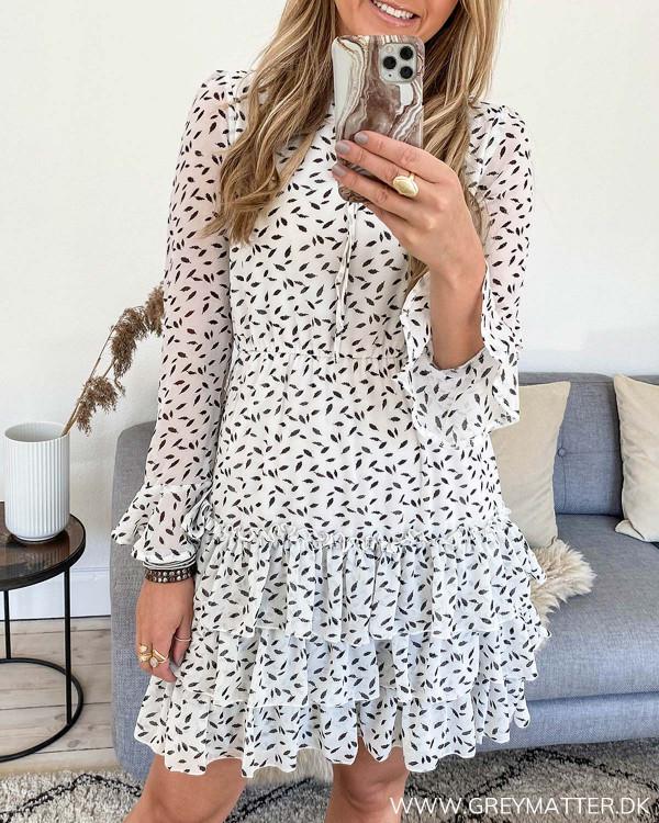 Smuk festkjole med print