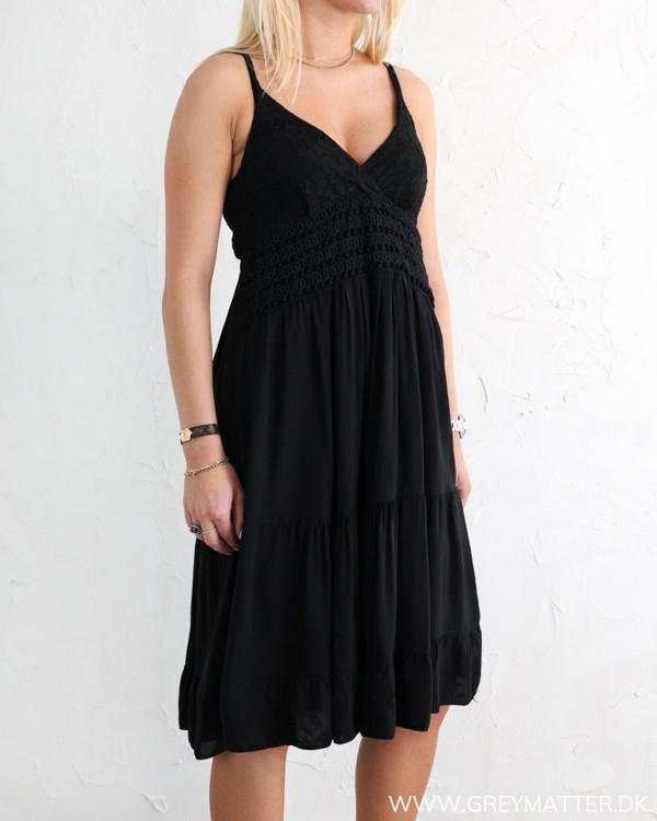 Deep Back Black Dress