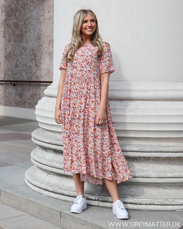 Pcmayrin Misty Rose Flower Midi Dress