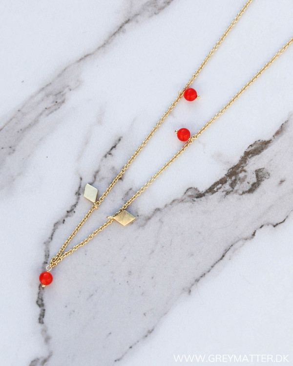 The Detail Red Golden Necklace