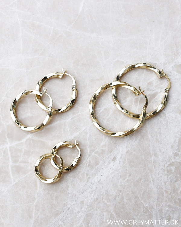 Small Golden Twisted Hoops