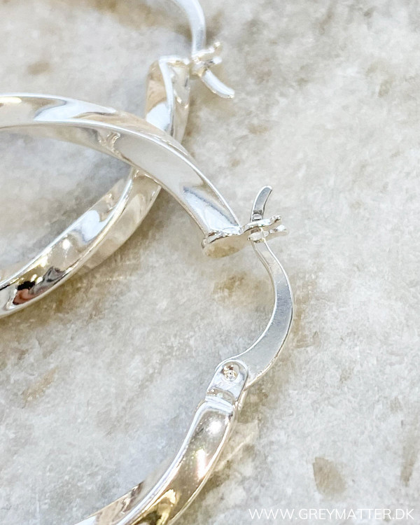Big Silver Twisted Hoops