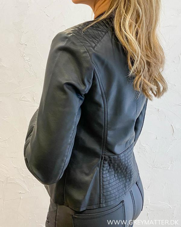 Viblue sort biker jakke til damer