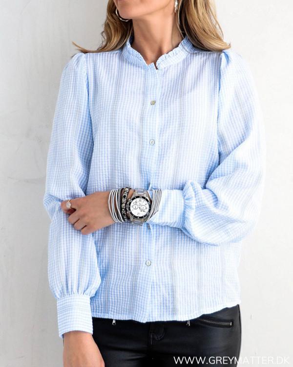 Rika Mini Check Light Blue Shirt